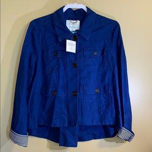 NWT Kate Spade Navy Broome Steel Jacket